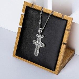 Image 2 - TOPGRILLZ pendentif et collier Jack Cactus glacé, Zircon cubique plaqué or argent, bijou Hip Hop pour hommes et femmes