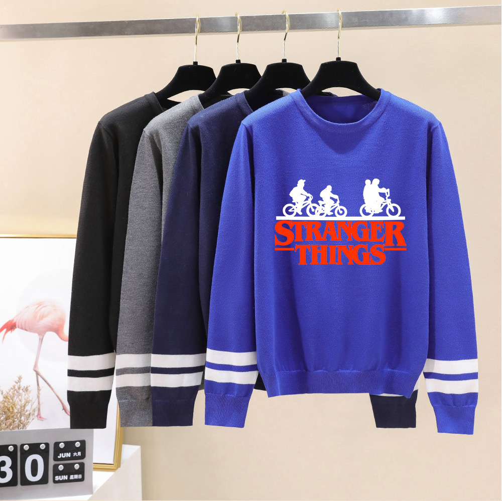 Stranger Things O-neck Sweater Men/women Aikooki Autumn Winter Hot Sale Long Sleeve Warm Outwear Knitted Sweater Casual Tops