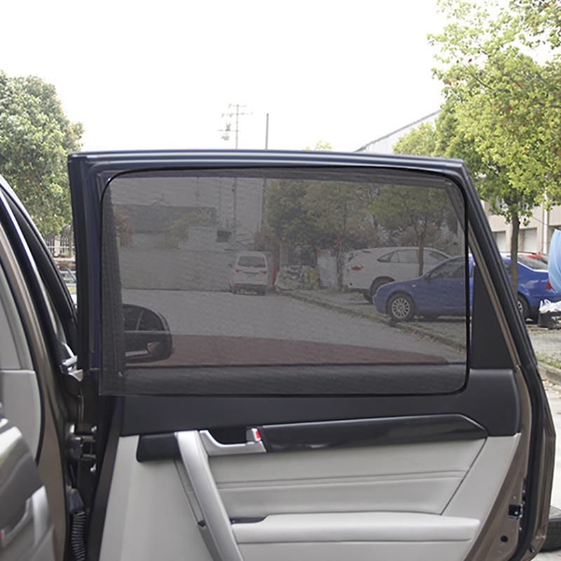 Магнитный автомобильный солнцезащитный козырек с защитой от УФ-лучей, автомобильная шторка для окна автомобиля, солнцезащитный козырек с сеткой на боковое окно, летняя Защитная оконная пленка