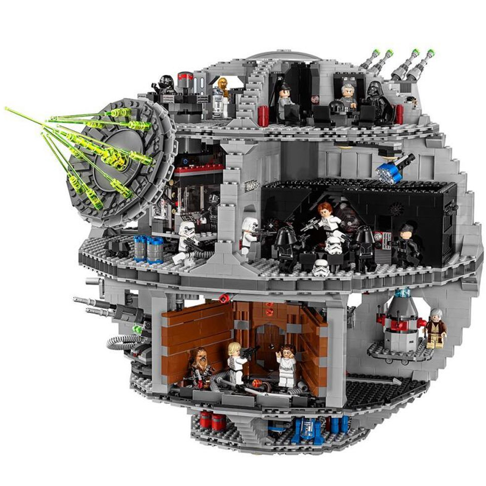05035 Star Series Wars UCS Death Star Educational Building Blocks Bricks Toys StarWars Compatible Legoinglys  Toys Gift