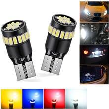 2 шт t10 led canbus error free w5w Светодиодная лампа светодиодная