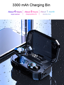 TWS Bluetooth 5.0 Earphone Waterproof stereo 6D Wireless Headset With digital display 3300mAh Charge Box for galaxy buds phone