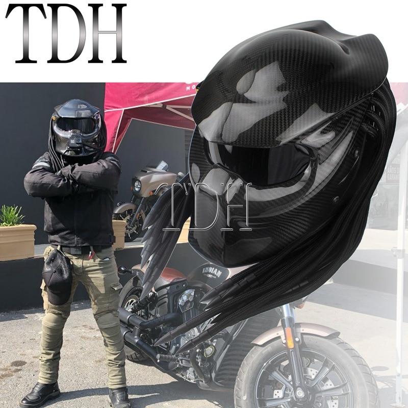 Призрак шлем хищник Универсальный Полный уход за кожей лица углеродного волокна Casco рыцарь воин шлем Железный человек Маска размеры s m l xl