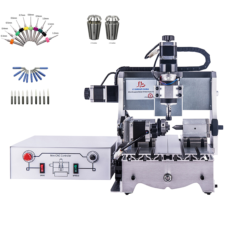 Mini CNC 3020 Engraving Machine CNC Router 4 Axis with Large Work Area CNC 2030 Milling Machine for Woodworking Pvc Pcbs 1