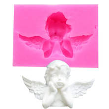 Cupid Fondant Silicone Mould Angel Wings Cake Mould Fondant Chocolate Decorating Mould mold  silicone mold 3 layer fondant cake mould