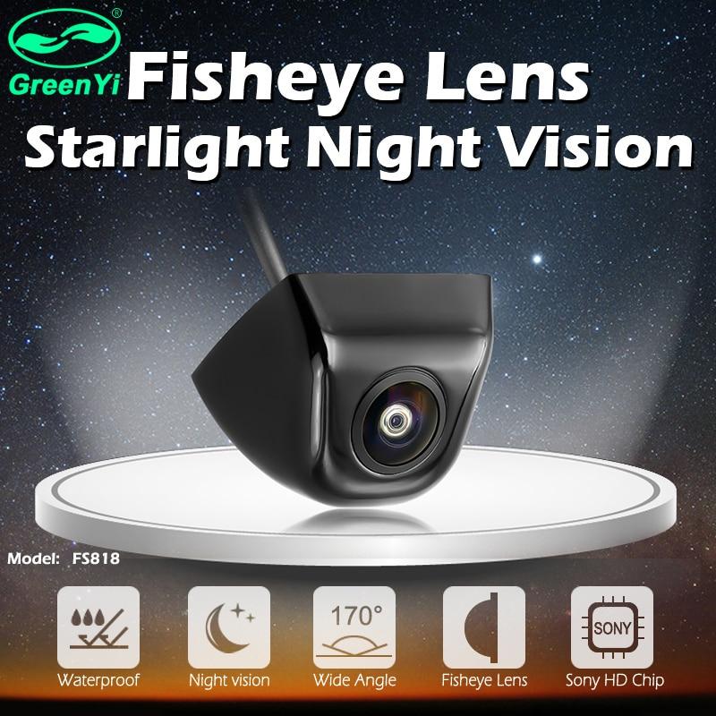 GreenYi 170 stopni obiektyw rybie oko Starlight Night Vision pojazd tylny/kamera z widokiem z przodu niski poziom światła 15m widoczna kamera samochodowa