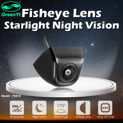 GreenYi 170 Degree Fish Eye Lens Starlight Night Vision Vehicle Rear / Front View Camera low-light level 15m visible Car Camera