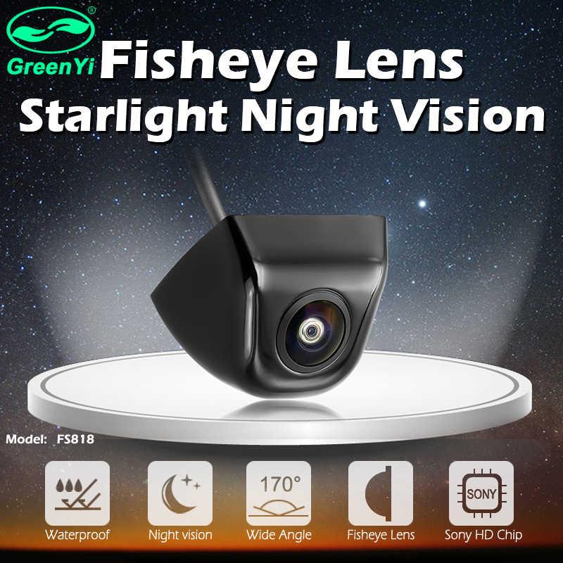 GreenYi 170 Độ Ống Kính Mắt Cá Sao Nhìn Xuyên Đêm Xe Phía Sau/Mặt Trước Sau Camera Ánh Sáng Thấp Cấp 15M NHÌN RÕ Camera