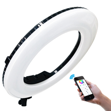 Selfie halka ışık 18 inç 48W Yidoblo AX 480D 9900K Led halka lamba Tripod fotografik aydınlatma makyaj lambası LED ışık halkası