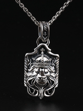 S925 Sterling Silver Thai Silver Pendant Mens Necklace Fashion Retro Hip Hop Personality Domineering Lion Head Pendant