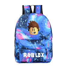 Blue Starry kids backpack roblox school bags for boys with A