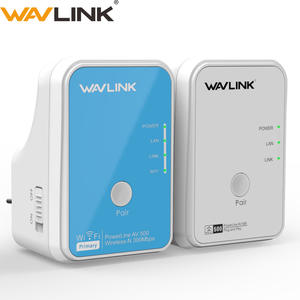Wavlink Wifi Extender Ethernet-Adapter Homeplug Powerline AV500 And 300mbps Network-Kit