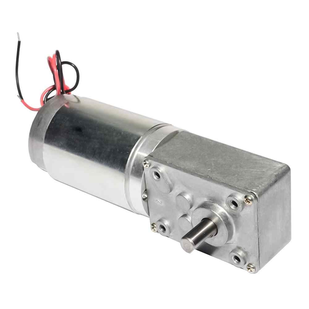 40GZ868 DC 12/24V 3-160rpm Worm Reducer Geared Motor High Torque Electric Motor with Reduction Gearbox with Self-locking Feature