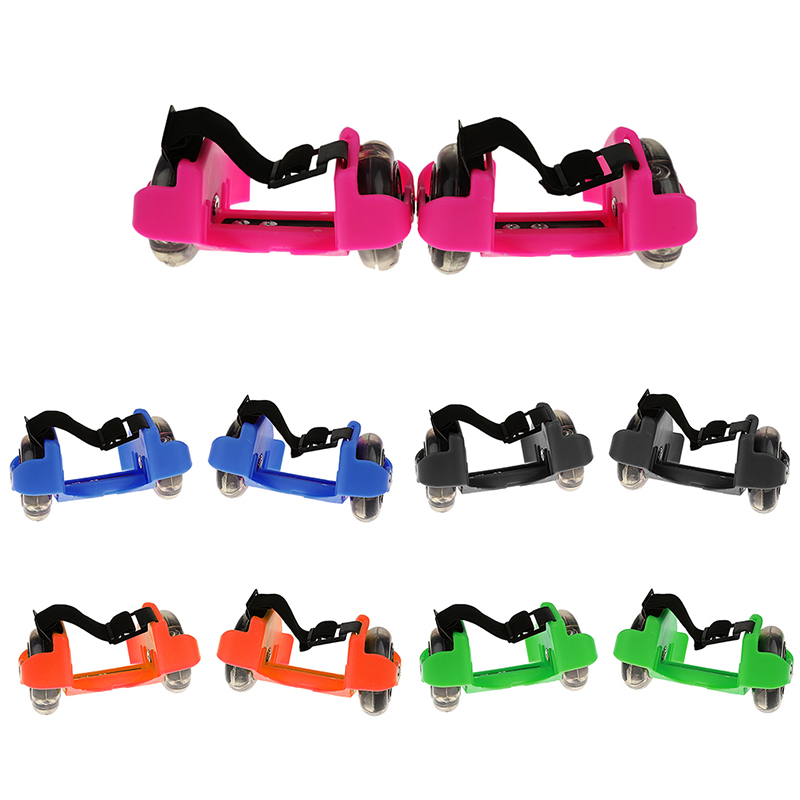 Light Weigh And High Quality Children Wheel Heel  Flashing Roller Adjustable Simply Roller Skating Shoes For Kids Adult