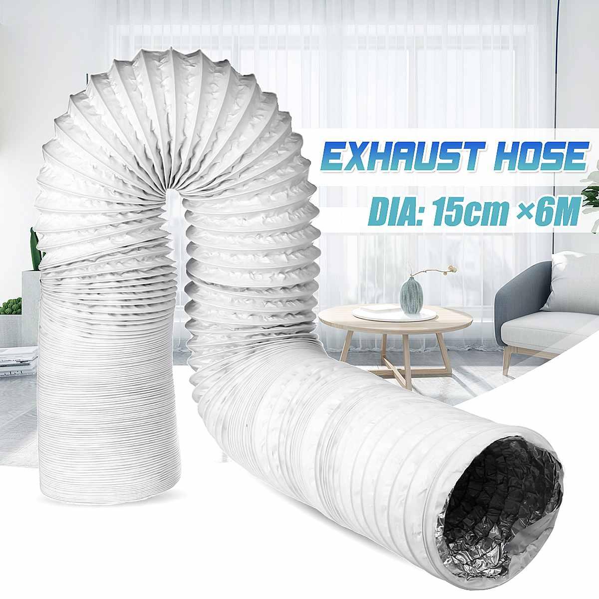 6 Inch  Double Aluminum Foil Tube Ventilation  Conditioner Duct Pipe Exhaust Hose Vent  For Kitchen Toilet Inline Exhaust Fan