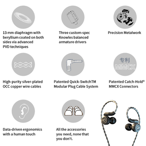 Image 2 - DUNU DK2001 היי Res 3BA + 1DD היברידי נהגים ב אוזן אוזניות IEM עם MMCX עצמי נעילה מהיר לשינוי תקע DK 2001 DK 2001