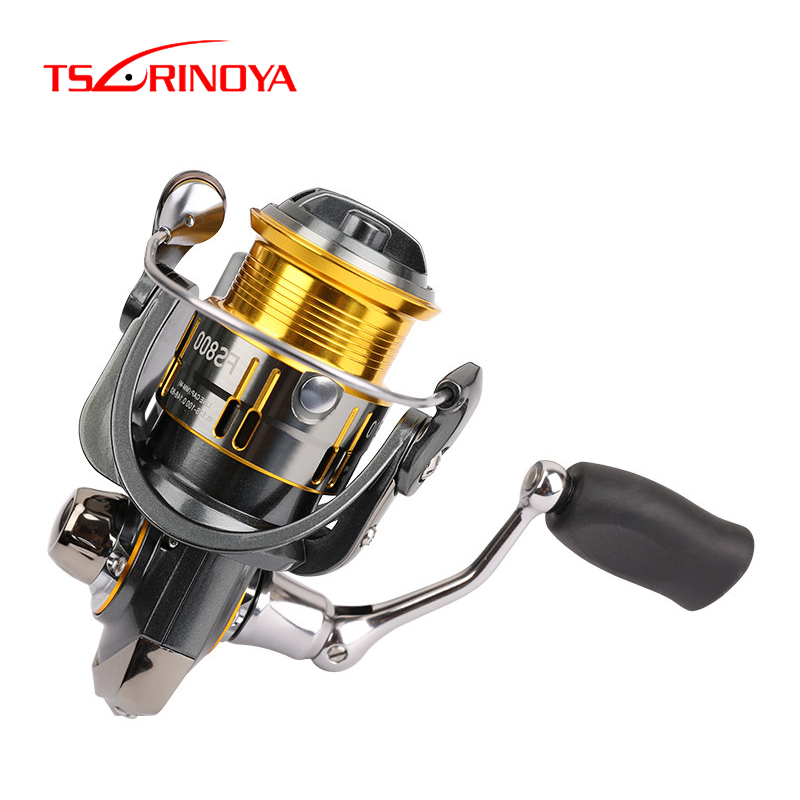 TSURINOYA Spinning Reel FS 800 1000 2000 3000 Metal Spool Spinning Fishing Coil Reel 7kg Max Drag 9+1BB Ultralight Trout Reel