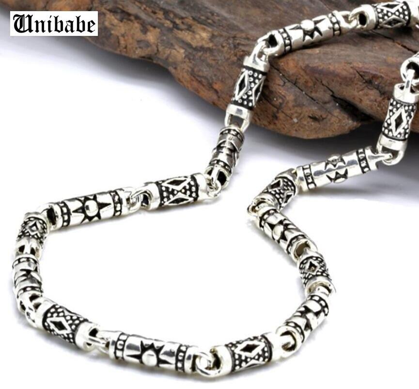 Collier en argent pur 4mm d'épaisseur collier en argent Sterling S925 collier classique S925 pour hommes