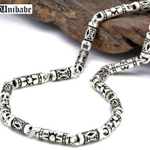 Thick Necklace Sterling-Silver S925 Classic 4mm Men Vintage Men's