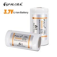 PALO 3,7 V 800mAh 16350 Lithium Li-Ion 16340 16350 Batterie CR123A Akkus CR123 Für Laser Pen LED Taschenlampe