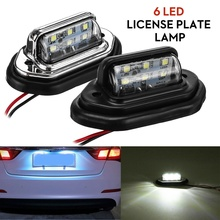 Light-Truck Tail Number Rear 12V-24V License-Plate-Lamp Lorry Auto-Car 6LED