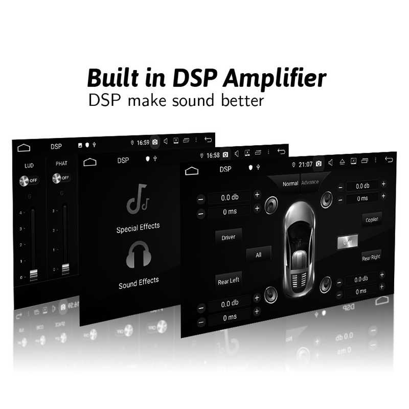 مشغل أسطوانات للسيارة DSP TDA7851 أندرويد 9.0 ثماني النواة 4G + 32GB بلوتوث 5.0 واي فاي لتحديد المواقع خريطة جوجل RDS راديو لكيا سورينتو 2013 2014