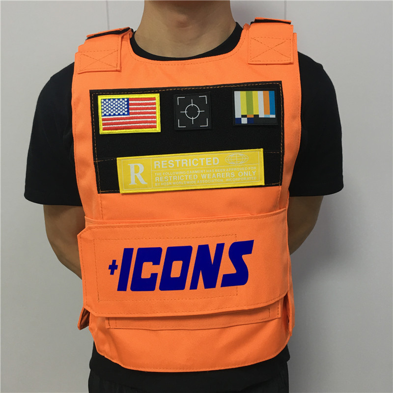 Orange Rapper Hiphop MC VEST RAPPER BAR TANK TOP Fashion New Design Street Fashion ICONS Military Militari Tactic Tactical Vest