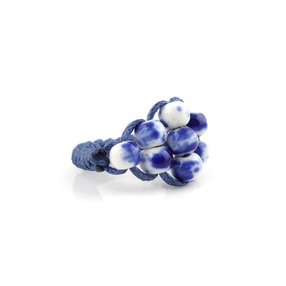 Simpul cina, Fashion perhiasan klasik, Merah / biru dan putih cincin - Perhiasan fashion - Foto 2