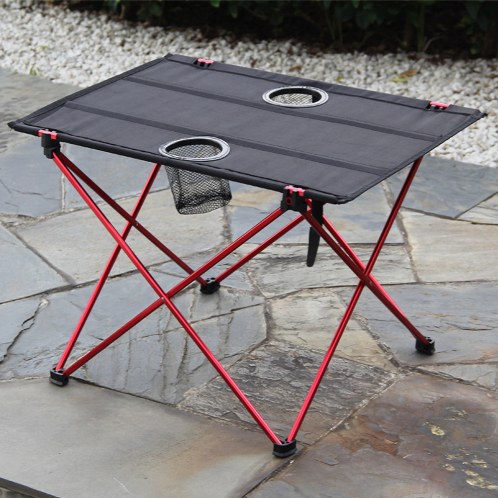 Cooking Accessories Lightweight Portable Camping Table Aluminum Alloy Barbecue Hiking Non-Slip Picnic Dining Foldable Outdoor