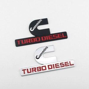 Металлические автомобильные аксессуары для Dodge CUMMINS, эмблема Turbo Journey Caravan Durango Nitro Caliber Jcuv Challenger, автомобильные задние наклейки