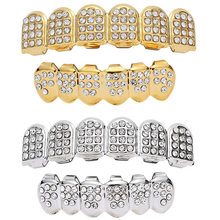 With crystal teeth caps grills rock case hip hop rapper cover