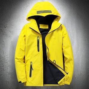 Men Autumn Thin Outdoor Jacket Waterproof Jacket Outwear Windbreaker Reflective Article Jackets For Men Rain