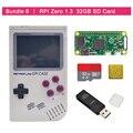 Em estoque original retroflag gpi caso kit com raspberry pi zero 0/w + 32 gb cartão sd + leitor de cartão usb + dissipador de calor