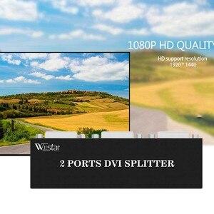 Image 4 - Splitter DVI Wiistar 1X2 DVI D Distribuidor 1 Em 2 Fora 1920x1440 para projetor monitor de computador gráficos cartão