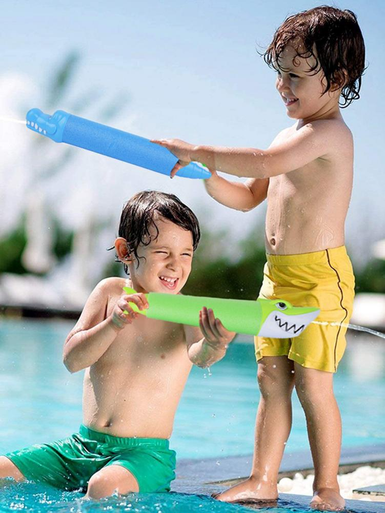 Children s Quality Water Gun Cartoon Animal Water Sprayer Toys EVA Shark Pull Water Toy For Water World Beach Games Watergun