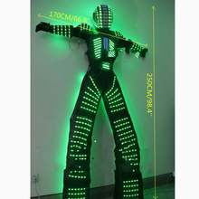 Светодиодный костюм робота Дэвида гетты костюм с подсветкой криоман робот рейв бальный костюм робота из светодиодов светильник одежда светодиодные костюмы роботов