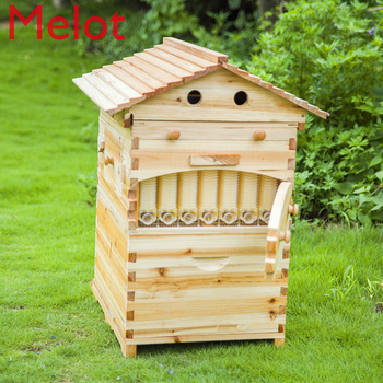 Automatic Honey Bee Hive House Honey Collection  Wooden Food Grade Box Bee Hive Frame Beehive Box Beekeeping Box Tools Supplies automatic beekeeping box house wooden bee hive house beekeeping equipment beekeeper tool smart wooden hives frames kit bee tools