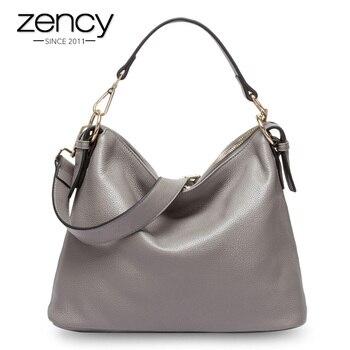 кошелек для мобильного телефона | Zency модная серая женская сумка на плечо 100% натуральная кожа сумка Новый стиль Женская сумка через плечо кошелек женская повседневная сумка