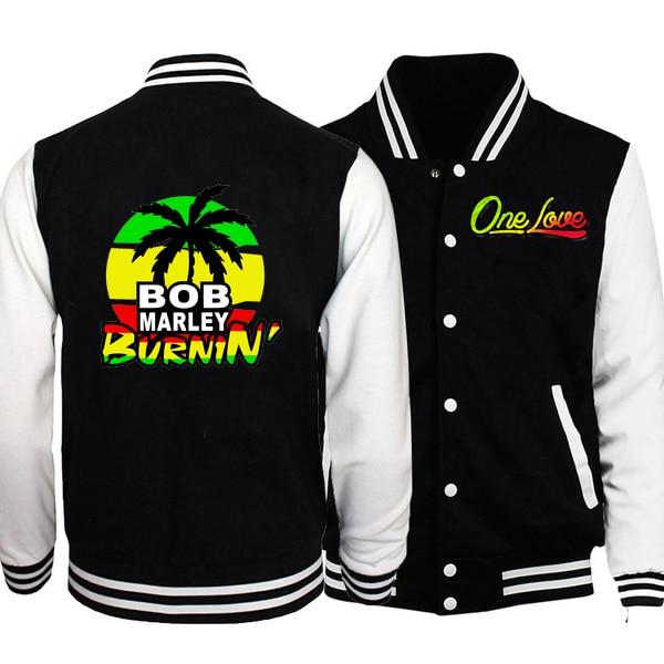 BOB MARLEY Men Clothing Men's Jacket Women Autumn Boy Baseball Jacket Men Fashion Design Mens Slim Fit College Baseball Jackets