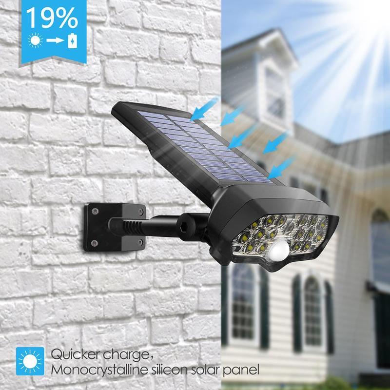 Led Solar Ed Floodlight Wall Lamp