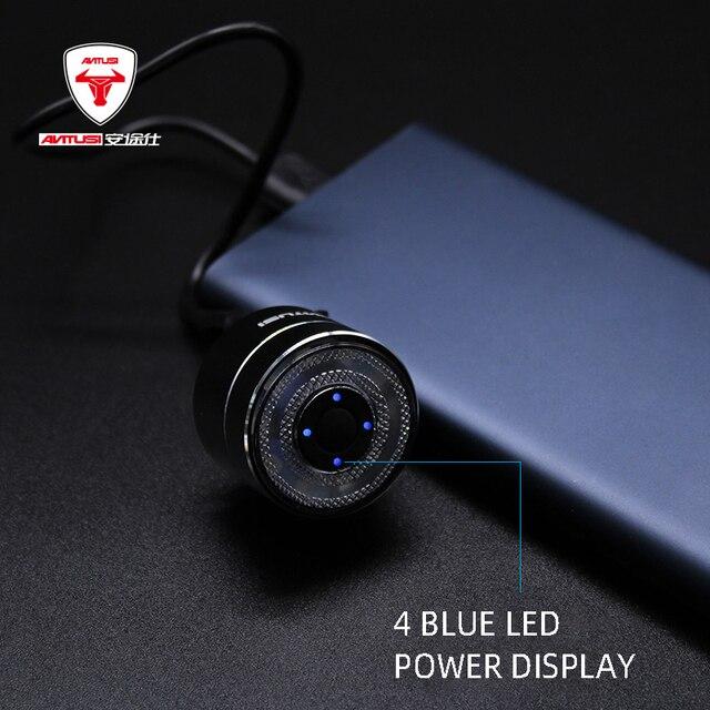 ANTUSI Smart Waring vélo feu arrière USB Charge résistant à leau lumière arrière Double support Smart frein feu arrière vélo accessoires Q3