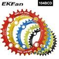 EKFan 104BCD круглая 30T 32T 34T 36T 38T цепная круглая шатунная пластина фиолетовая и зеленая MTB велосипедная