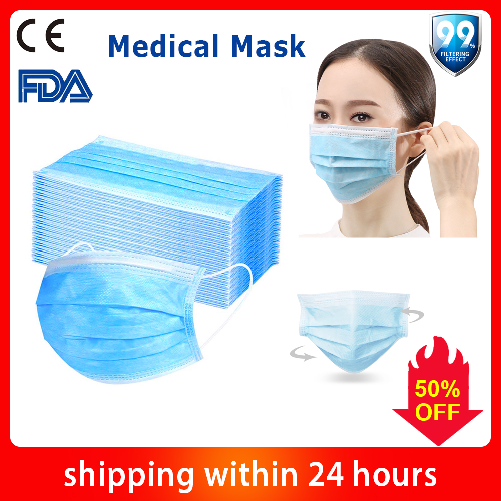 50/100/200PCS Disposable Masks Anti Fog Face Masks Protective Mask Mouth Mask Dust Mask Features as N95 KF94 FFP2 KN95 FFP3|Masks| |  - title=
