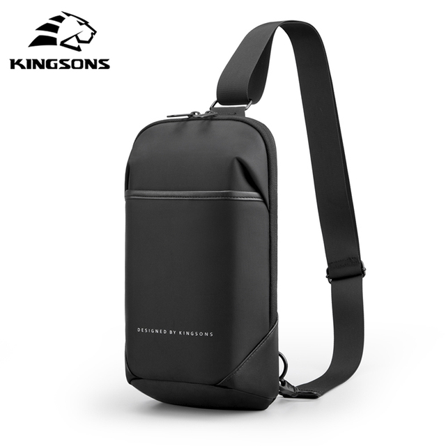 Kingsons Anti-theft Crossbody Bags Male Waterproof Chest Pack Short Trip Messenger Sling Bag Shoulder Chest Bag 3