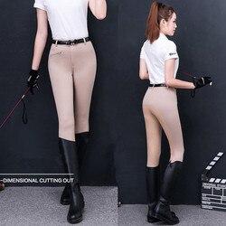 Pantalones de montar a caballo flexibles, calzones ecuestres deportivos Paardensport para mujer, ropa Ecuestre para montar a caballo, de talla grande para mujer