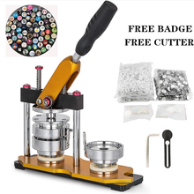 Button-Making-Machine Badge-Maker with 100pcs Pin Bage-Free Paper-Cutter 75mm Rotating