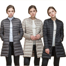 ZOGAA Women Parkas Winter Warm Thick Padded Cotton and Ultra Light Duck Down Lon