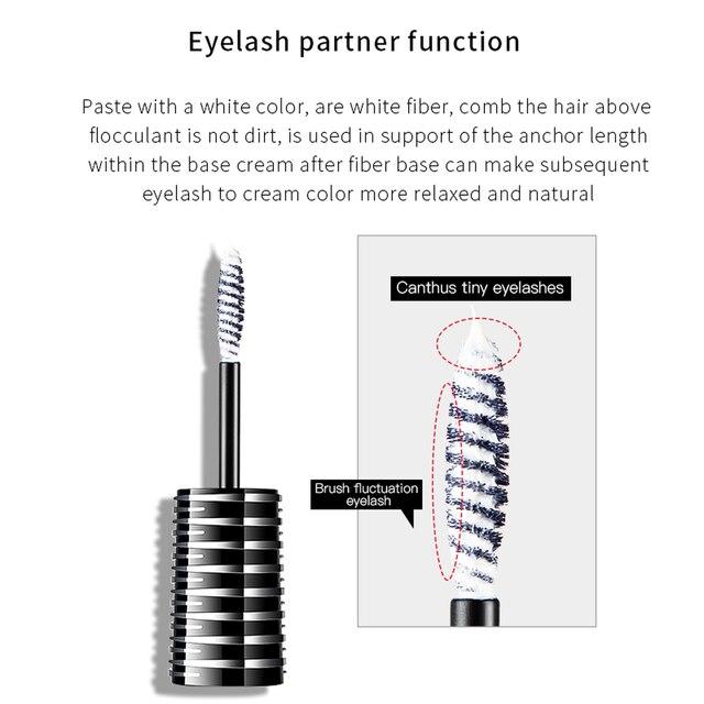 Pudaier 1PC Perfect Primer Lashes Mascara Partner Eye Lash Base Makeup Cosmetic White Fiber Eyelash Cream for Natural Big Eyes 2