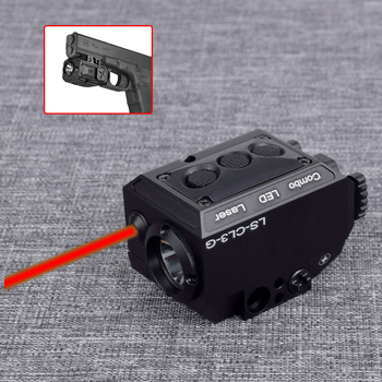 Combo Tactical Weapon Flashlight + Red/Green Laser Sight For Pistol Gun Rifle Self Defense Hunting With Picatinny Rail