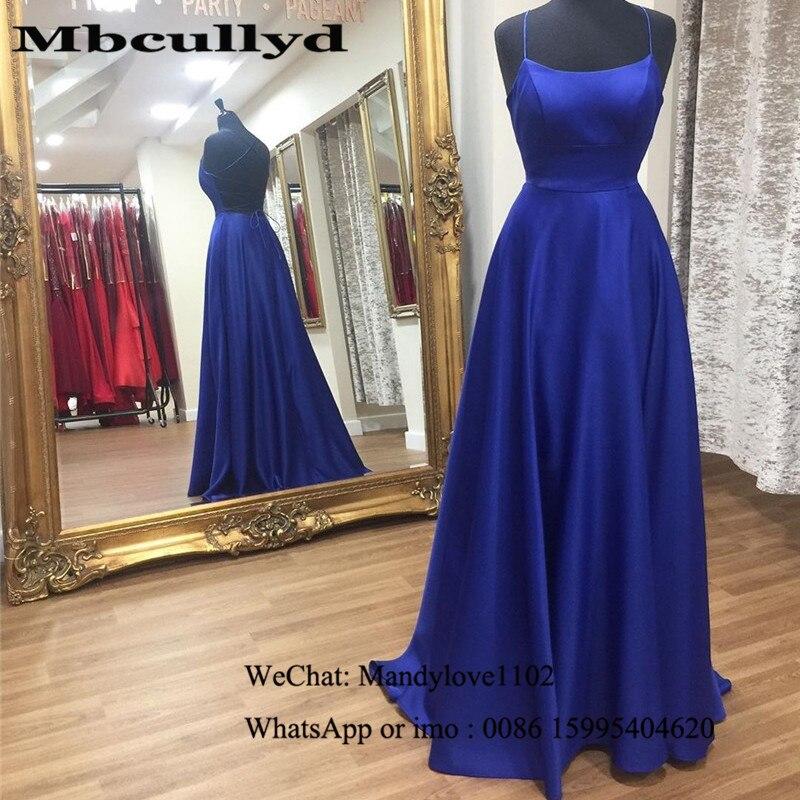 Mbcullyd Royal Blue Long Prom Dresses Sexy Cross Backless Imported Evening Dress Cheap Under 100 Vestidos De Fiesta De Noche